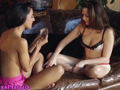 Big titted lesbian model babes muff dive