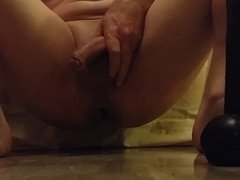 Huge black dildo anal fun-1