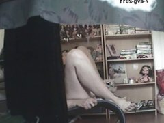 Woman caught enjoying herself9