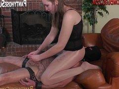 Sadistic Femdom Mistresses in pantyhose