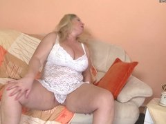 Big breasted mature mom and her old cunt