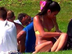 Candid - Sexy Asian Babe In Bikini At Public Swimming Pool