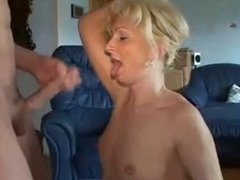 Blonde mature loves anal