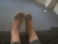 Mixed girl with funky feet Part 1