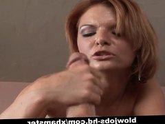 Redhead hottie hoovers that big dick