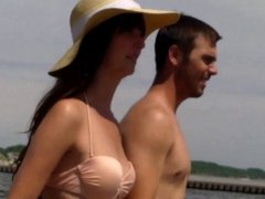 Candid Beach Bikini Ass Butt West Michigan Booty Hat