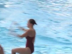 Amazing Diving Girls In Pool