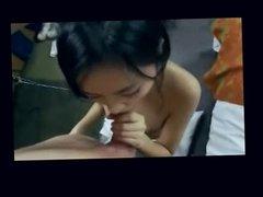 Asian 18Teen Girl First Blowjob w Facial on Cam
