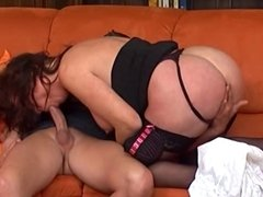 MILF Mature housewife fucking young cock