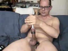17mm sounding, balls and cum (short edit)