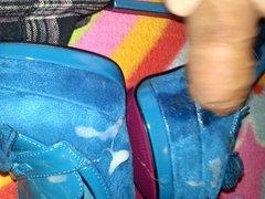 Blue High Heel Pumps Cum