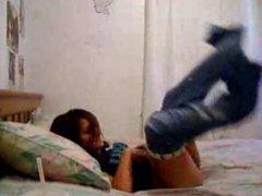 Couple teasing each other through intercourse