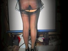 Seductive 1940 Black French Knickers