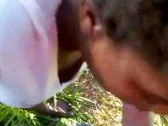 Brazilian hooker fucked by customer in outdoor
