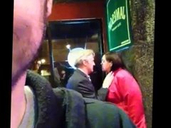 Old Couple Make Out At the Bar