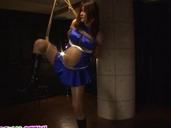 Japanese beauty is pregnant and in bondage