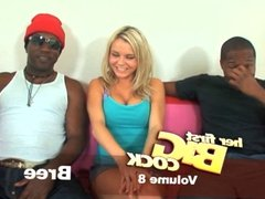 Sexy Blonde Pornstar Auditions For 2 BBC