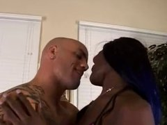 Black whore loves white cock in her pussy