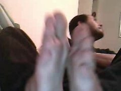 straight guys feet on webcam - piedi maschili