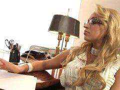 Blonde Secretary Sex In The Office