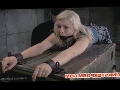 BDSM Slave Ella Nova Locked in Chains and Tormented
