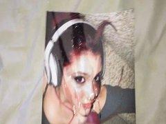 Ariana Grande cum tribute 7