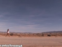 Outdoor babe fucking cock in the sun