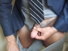Horny Executive Daddy at work needs to relieve himself