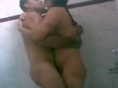 desi indian wife taking bath with husbands friend