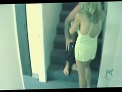 BLONDE MOM GETS FUCKED ON THE STAIRS!!!!