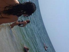 French girl thong beach
