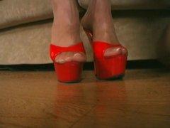 Blonde Pantyhose Footjob - & shoejob