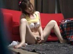 Hidden Cam Catches Hot Female Masturbation