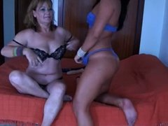 mother and not her daughter's friend webcam show