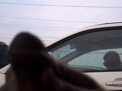 Flashing blonde in traffic
