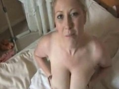 Mature milf showing her tits