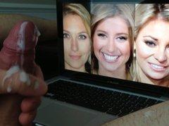 Cum to Sara Eisen Morgan Brennan and Mandy Drury