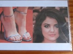 Lucy Hale - Face and Feet Cum Tribute