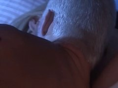 blonde busty MILF fucked on bed