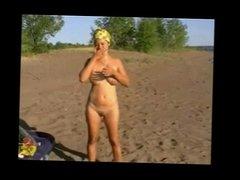 Amateur Couple on Beach BVR