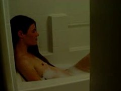 Secretly Watching Tiny Tit Anne In Bubblebath