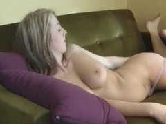 Hot Young Wife Has A Rub On The Sofa !