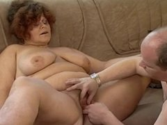 Tasty plump mom with flabby yummy body, hairy cunt & guy