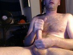 older dude jacks off nice dick