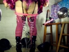 Tgirl BBC slut teases Donte's BB9inchC rock hard