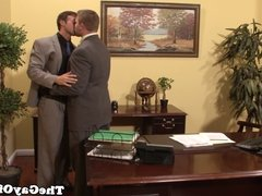 Office sex homo sucked and ass fucked
