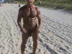 70 year old bodybuilder on nude beach