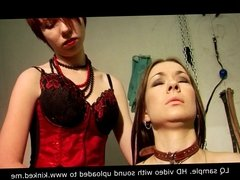 cruel mistress tortures her slaves with hot wax and electric