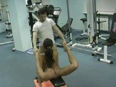 Russian guy bangs a Gymnast
