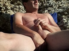 masturbating at the nude beach